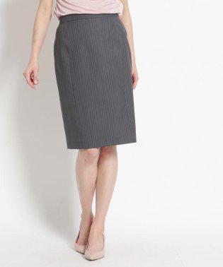 【洗える】ピンストライプタイトスカート