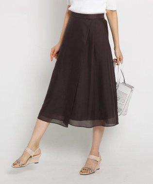 【マシンウォッシュ】ブライトスパンボイル ラップ風スカート