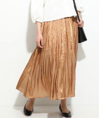 【ドラマ着用】シャイニーサテンフェードアウトプリーツスカート