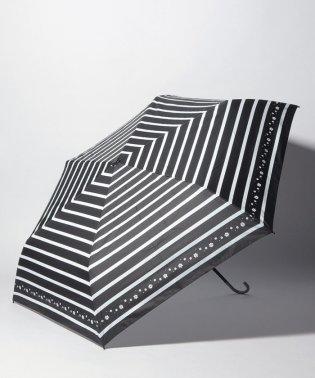 estaa エスタ 晴雨兼用傘 BEAUTY SHIELD(ビューティーシールド)UV 遮熱・遮光 ミニ傘 ボーダーフラワープリント