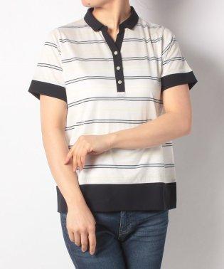 McG切換えボーダー半袖ポロシャツ