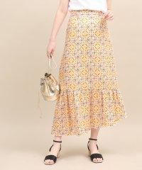 【セットアップ対応】モザイクパターンアシメスカート