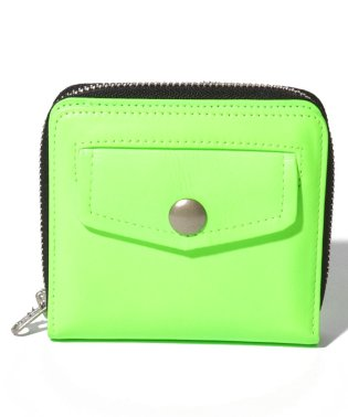 neon color riders small zip purse
