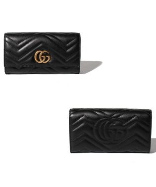 【GUCCI】2つ折り長財布 / GG MARMONT 【NERO】