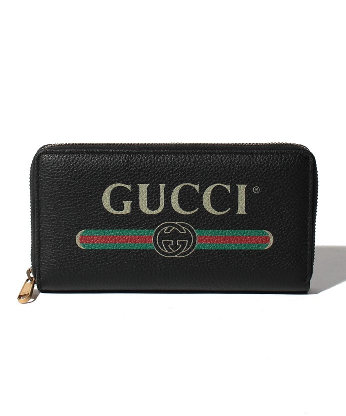 【GUCCI】ラウンドジップ長財布 / GUCCI PRINT 【BLACK】