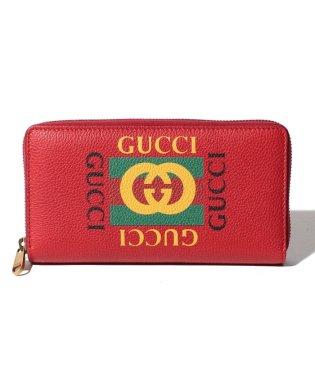 【GUCCI】ラウンドジップ長財布 / GUCCI PRINT 【RED】