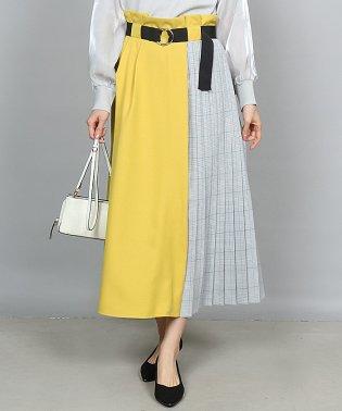 GRANDTABLE(グランターブル) サイドチェックベルトスカート