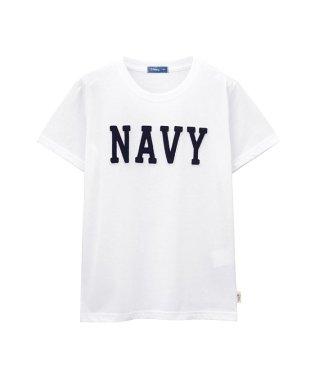 Navy ボーイズ フェルトロゴTシャツ EJ193-KB090