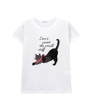 Nyans World ガールズ 半袖Tシャツ EJ193-KG092
