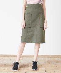 ビッグポケットバックファスナー台形スカート