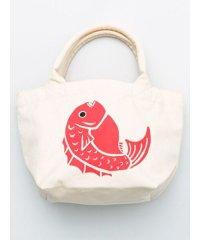 【カヤ】くるみ巾着ミニトートバッグ鯛