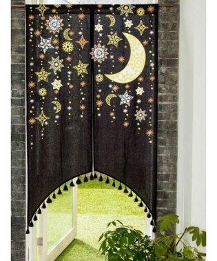【チャイハネ】夜空に輝く月星アーチのれん