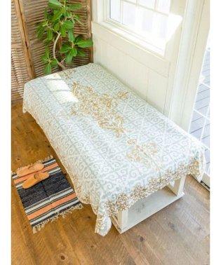 【チャイハネ】イスラミックタイル柄ベッドカバー シングルサイズ