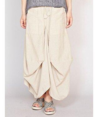 【チャイハネ】yul 無地シンプル変形スカート