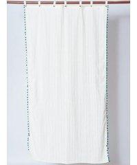 【チャイハネ】インド綿ポンポンカーテン178cm