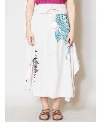 【チャイハネ】yul トライバルフラワーロングスカート
