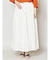 【チャイハネ】インド綿パンチングレースロングスカート