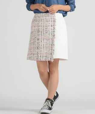 【socolla】DENIM×ツイード ミニスカート