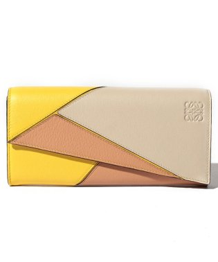 【LOEWE】2つ折り長財布/PUZZLE CONTINENTAL WALLET【YELLOW/POWDER】