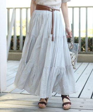 【EC】インド綿3段ティアードスカート