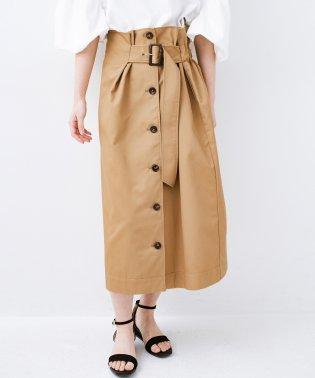 シンプルトップスに合わせても素敵に見える 女っぽフレアーロングスカート