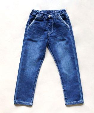 ニット風デニム9分丈パンツ(150~160cm)