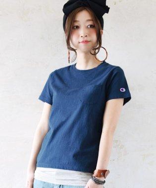 【Champion】ベーシックポケットTシャツ