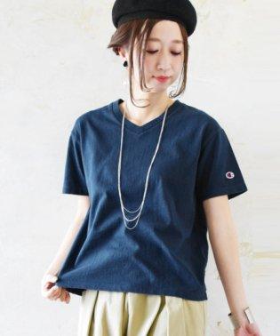 【Champion】ベーシックVネックコットンTシャツ