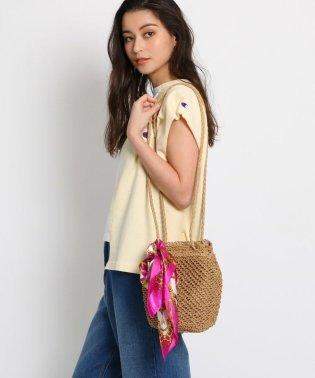 【WEB限定プライス】スカーフ付きメッシュショルダーバッグ