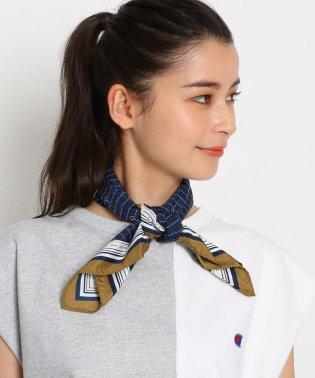 【洗える】ロゴモノグラム柄スカーフ