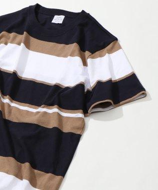 USAコットンパネルボーダーTシャツ