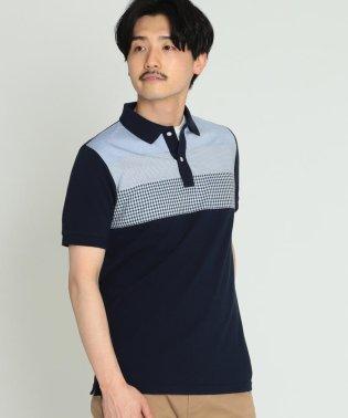 BEAMS / クロス 切替 ポロシャツ