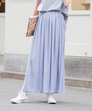 楊柳シフォンマキシスカート