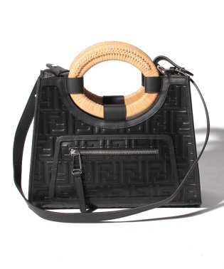 【FENDI】2WAYハンドバッグ/RUNAWAY SHOPPING SMALL 【NERO+PALLADIO】