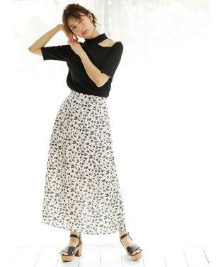 花柄マーメイド/スカート