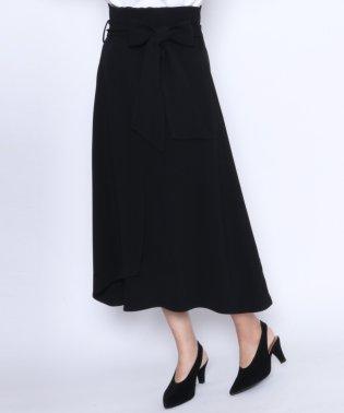 ★【アーガ Aga】アシンメトリーヘム ハイウエスト ベルト付き スカート