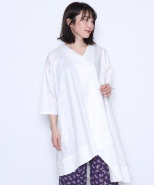 ★【アーガ Aga】アシンメトリーデザイン コットンジャケット