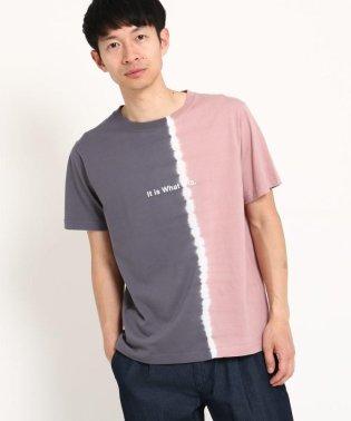 縦切替タイダイTシャツ