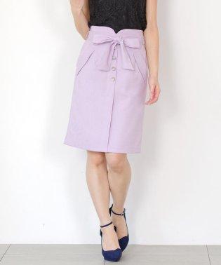 前ボタンタイトスカート