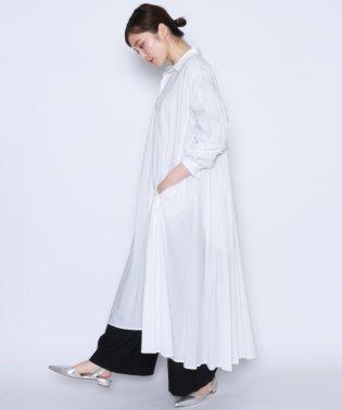 ★【ミルポア MIREPOIX】テントライン フレア シャツ ワンピース