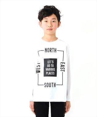 ボックスシルエット・ビッグプリント長袖Tシャツ