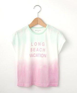 【100cm~140cm】段染めタイダイ風プリントTシャツ