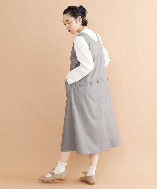【plus】バックボタンデザインジャンパースカート