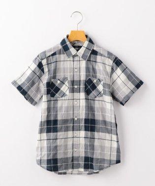 SHIPS KIDS:シャーリング チェック シャツ(145~160cm)