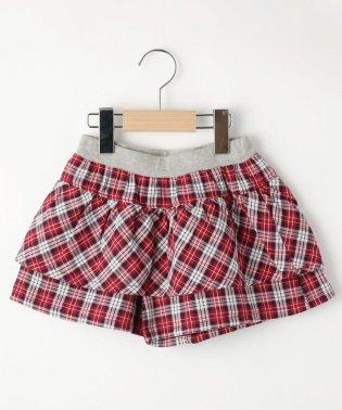 【90-140cm】マドラスチェックキュロットスカート