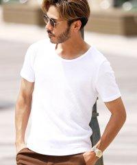 クルーネックワッフルT / サーマル Tシャツ クルーネック 夏服 メンズ 半袖 無地 カットソー ティーシャツ