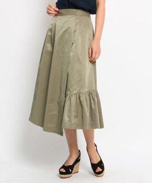 【洗える】クリアツイルアシンメトリースカート