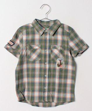 KIDSポプリンチェックアップリケシャツ・ブラウス
