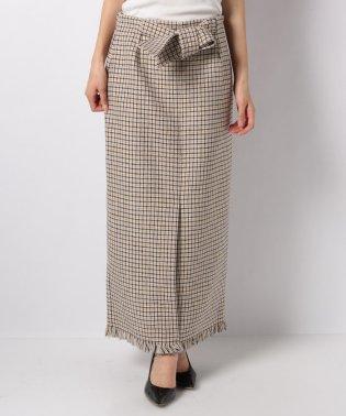 ロングタイトウエストリボンスカート