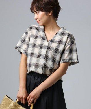 [L]チェックスキッパーシャツ